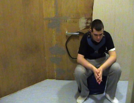 Brandon chained to wall in youth care