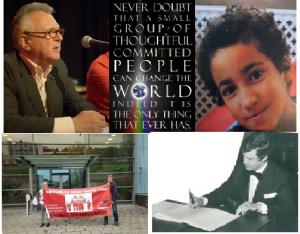 Collage Never doubt met Heertje, Sylvano, Von en Marcel